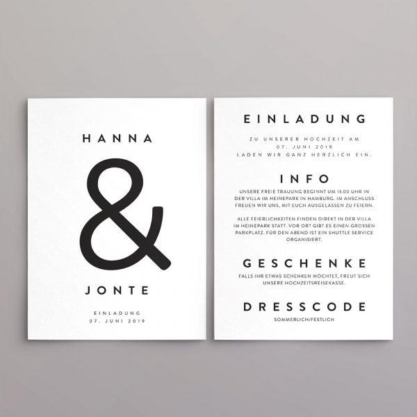 Einladung Design Jonte im Scandy-Style