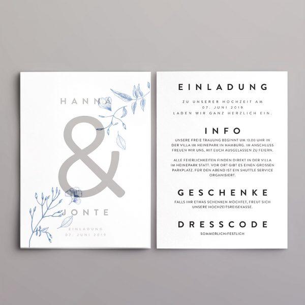 Einladung Design Jonte Seite 1