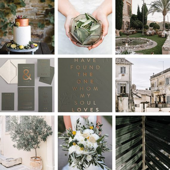 Greenery Moodbaord Hochzeits