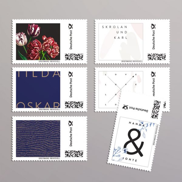 individuelle Briefmarken in eigenem Design