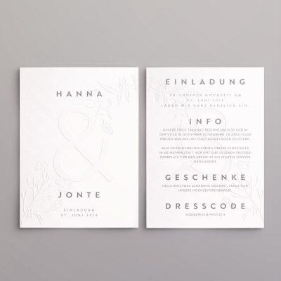 minimalistische Einladung