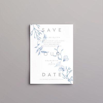 Save the Date Karte mit transparentem Deckblatt