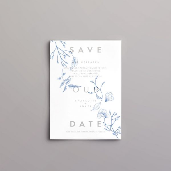 Save the Date Karte mit transparentem Deckblatt