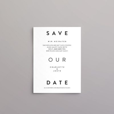Skandic Style Save the Date Karte
