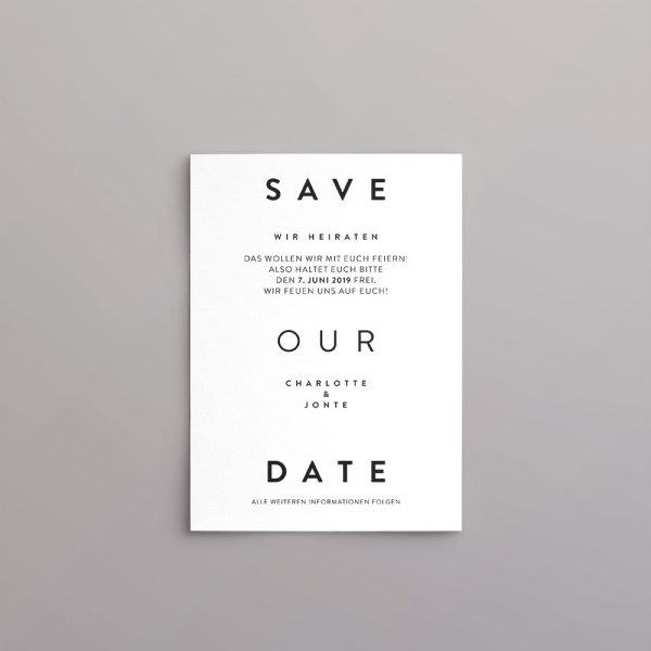 Skandic Style Save the Date Karte