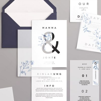 Papeterieset im Design Jonte