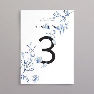 Tischnummer im Design Jonte