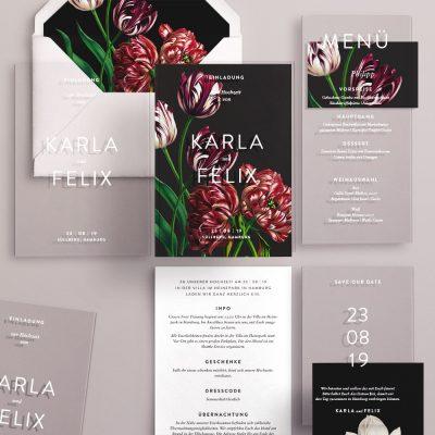 Hochzeitskarten auf Acryl