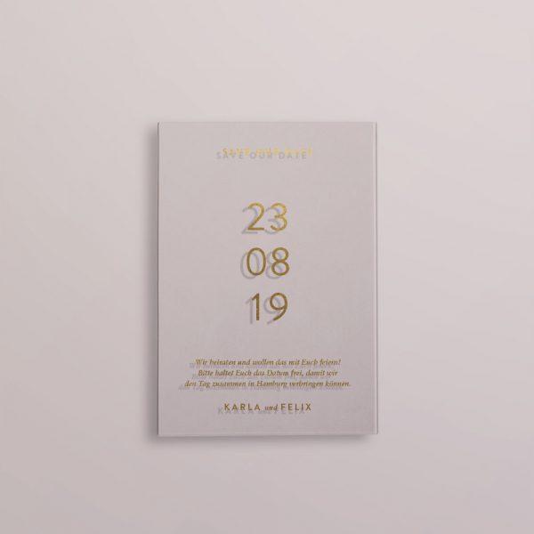Save the Date auf Acryl