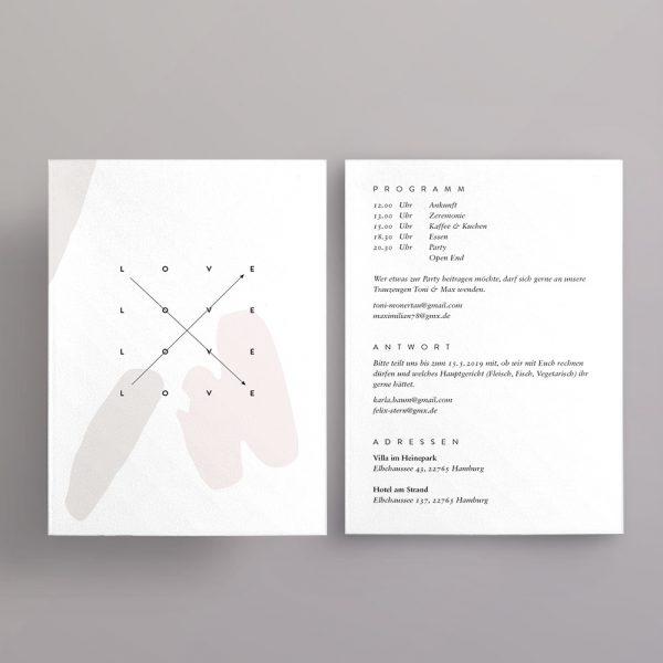 Hochzeitseinladung Infokarte im Design Skrolan