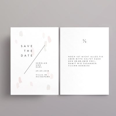 Minimalistische Save the Date