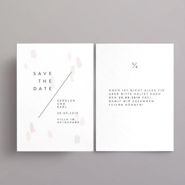 Minimalistische Save the Date