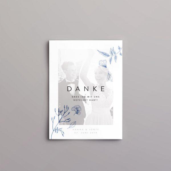 Deckblatt mit Muster, transparent auf Dankeskarte