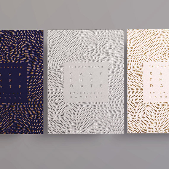Prägefarben im Design Tilda