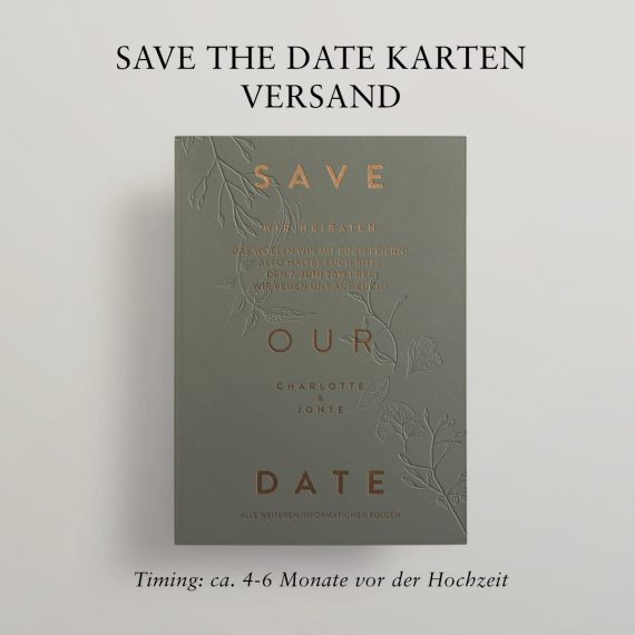 Optimaler Versand Ihrer Save the Date Karten