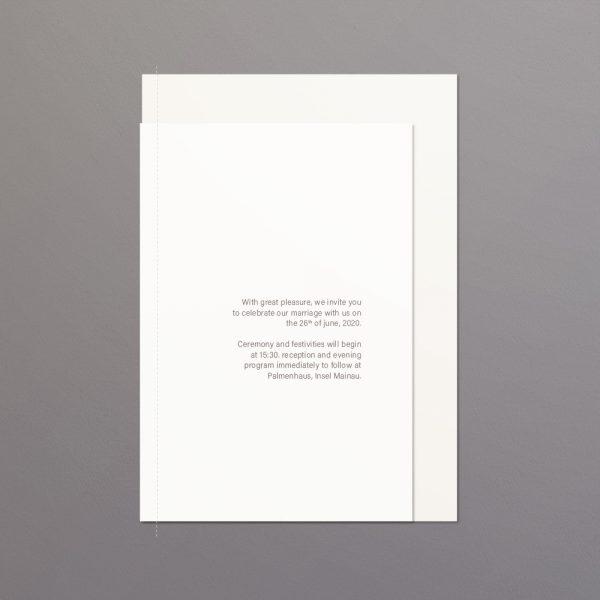 Einladungsseite Hochzeitspapeterie im Lagen-Look